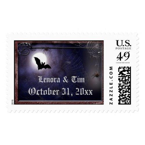 Halloween / Gothic Wedding Postage Template
