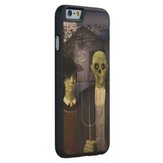 Halloween gótico americano funda de iPhone 6 carved® slim de arce
