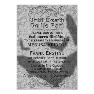 """Halloween gótico que casa la sombra de los palos invitación 5"""" x 7"""""""