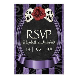 """Halloween gótico que casa la tarjeta de RSVP Invitación 3.5"""" X 5"""""""