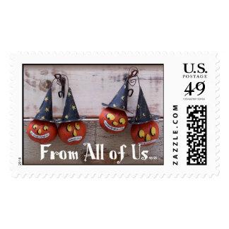 Halloween Gourds Postage Stamp