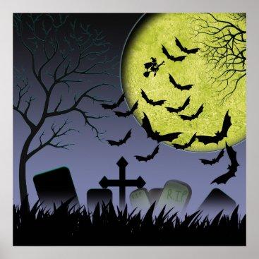 Halloween Themed Halloween Grave yard Poster