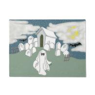 Halloween Grave Yard Shift Doormat