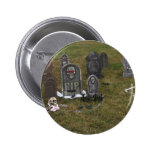 Halloween Grave Yard with Tombstones Buttons
