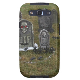 Halloween Grave Yard with Tombstones Samsung Galaxy SIII Cases