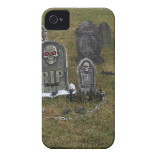 Halloween Grave Yard with Tombstones iPhone 4 Case-Mate Cases