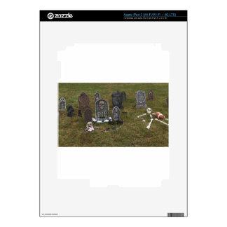 Halloween Grave Yard with Tombstones iPad 3 Decal