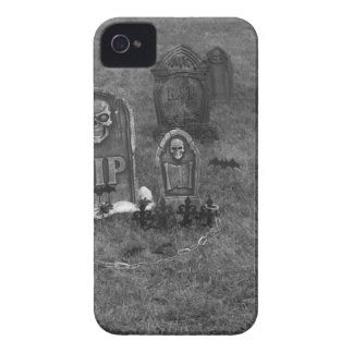 Halloween Grave Yard with Tombstones iPhone 4 Case