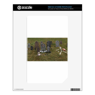 Halloween Grave Yard with Tombstones NOOK Color Decal