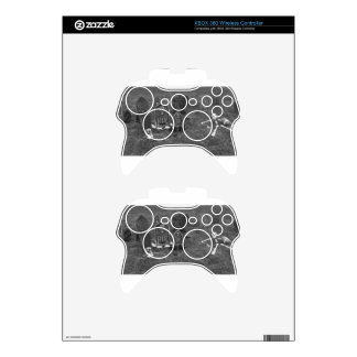 Halloween Grave Yard with Tombstones Xbox 360 Controller Decal