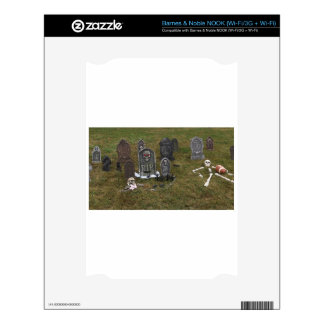 Halloween Grave Yard with Tombstones Decal For The NOOK