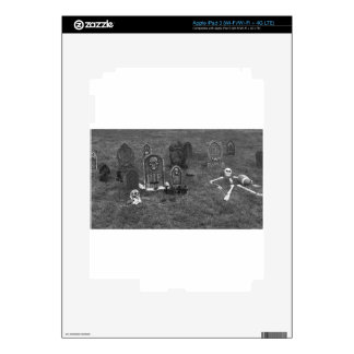 Halloween Grave Yard with Tombstones Decal For iPad 3