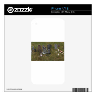 Halloween Grave Yard with Tombstones Decals For The iPhone 4S