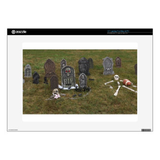 Halloween Grave Yard with Tombstones Skins For Laptops
