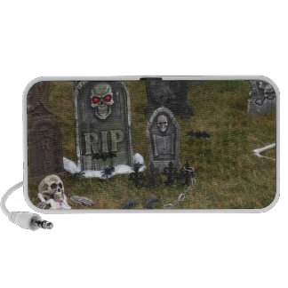 Halloween Grave Yard with Tombstones Portable Speaker