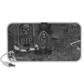 Halloween Grave Yard with Tombstones Speaker System