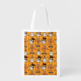 Halloween Graves & Skulls Reusable Grocery Bag