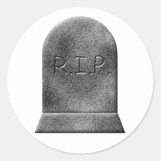 Halloween gravestone rip classic round sticker