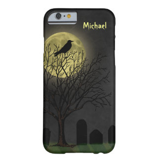 Halloween Graveyard Crow and Moon Barely There iPhone 6 Case