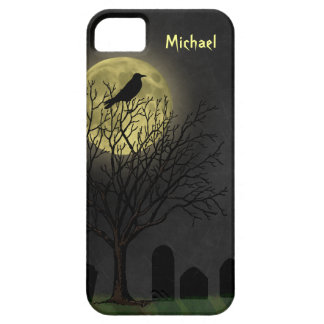 Halloween - Graveyard Crow and Moon iPhone SE/5/5s Case