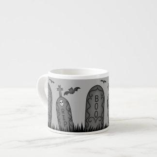 Halloween graveyard fun espresso cup