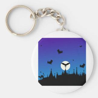 Halloween Graveyard Novelties Basic Round Button Keychain