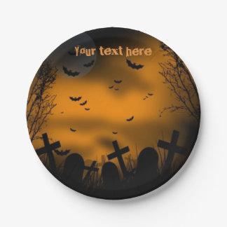 Halloween Graveyard Paper Plate