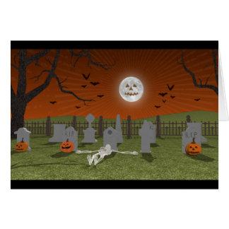 Halloween: Graveyard Scene: Greeting Card