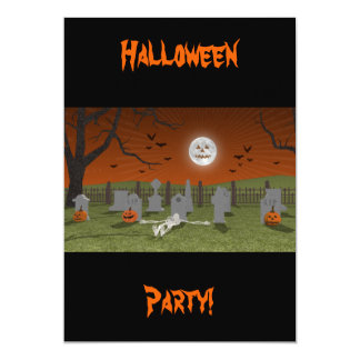 Halloween: Graveyard Scene: Invitation Card