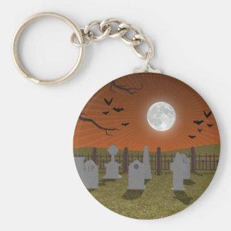 Halloween: Graveyard Scene: Keychain