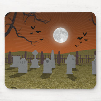 Halloween: Graveyard Scene: Mouse Pad