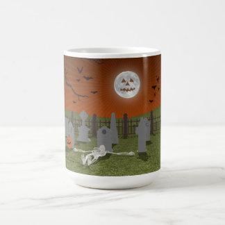 Halloween: Graveyard Scene: Classic White Coffee Mug