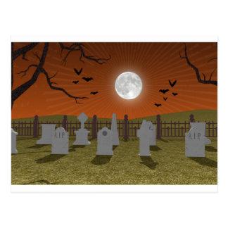 Halloween: Graveyard Scene: Postcard