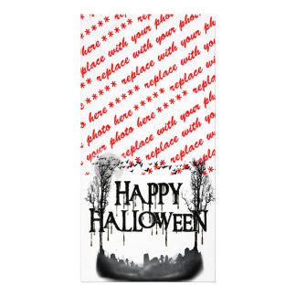 Halloween Graveyard Scene Silhouette Card