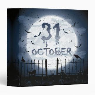 Halloween graveyard scenes 31 october binder