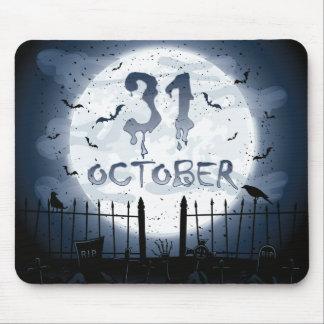 Halloween graveyard scenes 31 october mouse pad