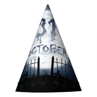 Halloween graveyard scenes 31 october party hat