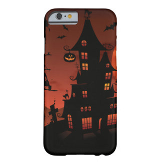 Halloween graveyard scenes pumpkin bats moon barely there iPhone 6 case