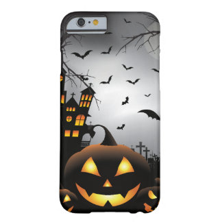 Halloween graveyard scenes pumpkin haunted house barely there iPhone 6 case