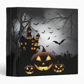 Halloween graveyard scenes pumpkin haunted house binder