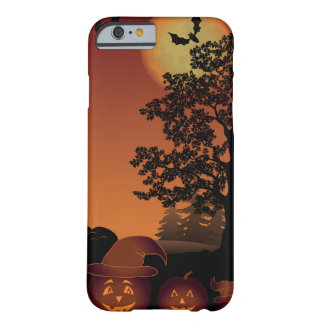 Halloween graveyard scenes pumpkins bats moon barely there iPhone 6 case
