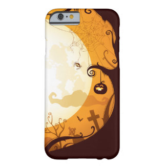 Halloween graveyard scenes, raven, pumpkin, spider barely there iPhone 6 case