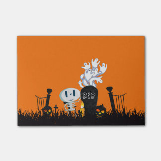 Halloween Graveyard Spooky Cute Skeleton & Ghosts Post-it Notes
