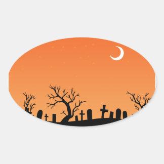 Halloween Graveyard Sticker