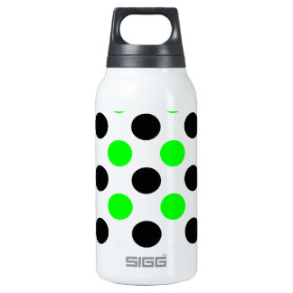 Halloween Green and Black Polka Dots Thermos Bottle