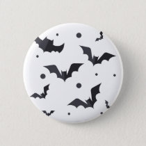 Halloween Green Bat Pattern Button