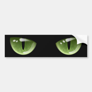 Halloween Green Cat Eyes Bumper Sticker