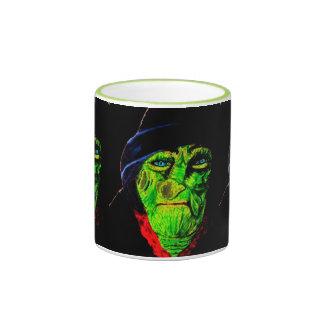 HALLOWEEN GREEN FACE WITCH mug