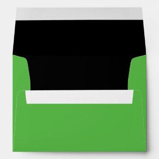 Halloween Green Frankenstein Invitation Envelope