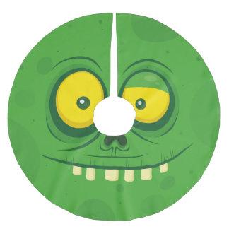 Halloween Green Monster Face Brushed Polyester Tree Skirt